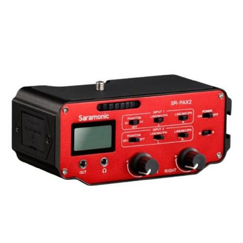 Saramonic Adaptateur audio SR-PAX2 pour DSLR, CSC et Caméras Blackmagic