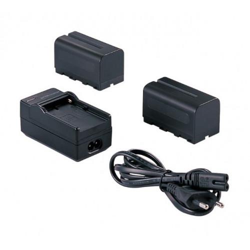 Falcon Eyes 2 x Batterie NP-F750 + chargeur SP-CHG pour Panneau LED