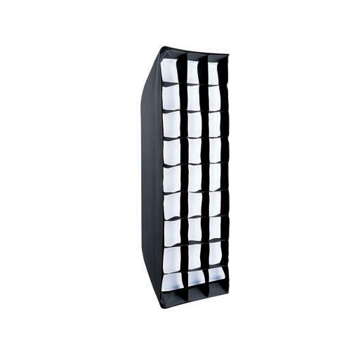 Linkstar pliable stripbox Boîte à lumière + grille nid d'abeille QSSX-30150HC 30x150 cm