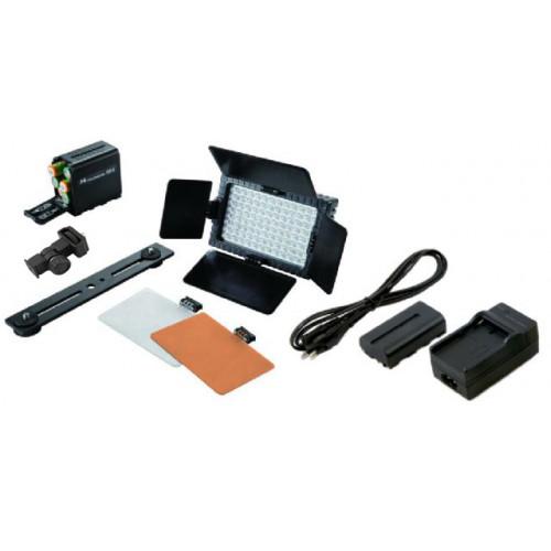 Falcon Eyes Kit Panneau LED DV-96V-K2 avec variateur + batterie