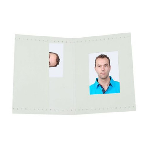 Benel Passport Photo Wallets blanc 500 Pcs.