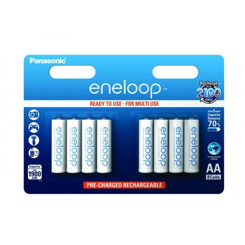 Eneloop Blister de 8 piles rechargeables LR06-AA