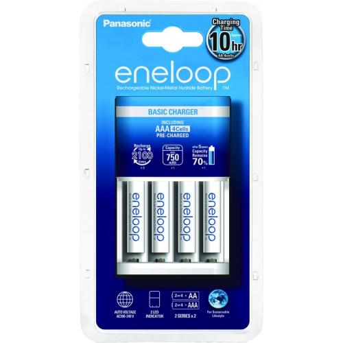 Eneloop Chargeur Eco + 4 piles LR03-AAA