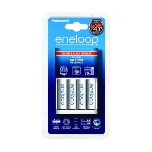 Eneloop Chargeur Rapide + 4 piles LR06-AA