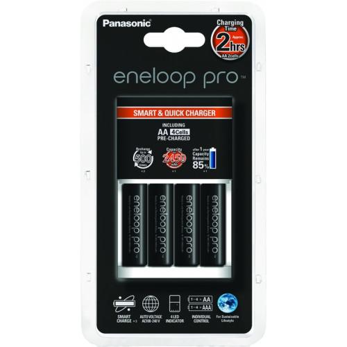 Eneloop Pro Chargeur Rapide + 4 piles LR06-AA