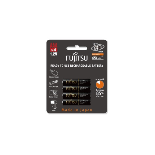 Fujitsu Blister 4 Piles Rechargeables AAA - NiMh - High Capacity