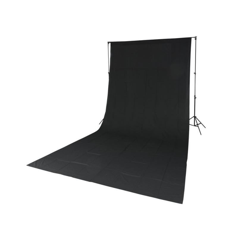 Quadralite Fond de studio tissu mousseline noir 2,85x6m
