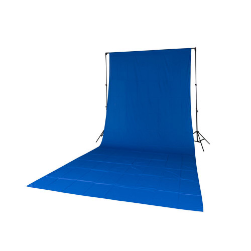 Quadralite Fond de studio tissu mousseline bleu 2,85x6m