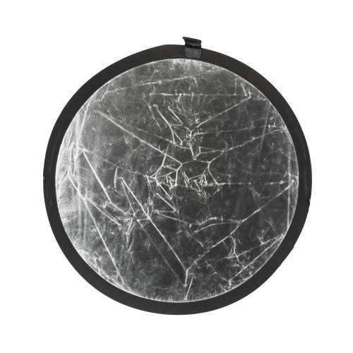Quadralite Réflecteur pliable argenté/blanc 60cm