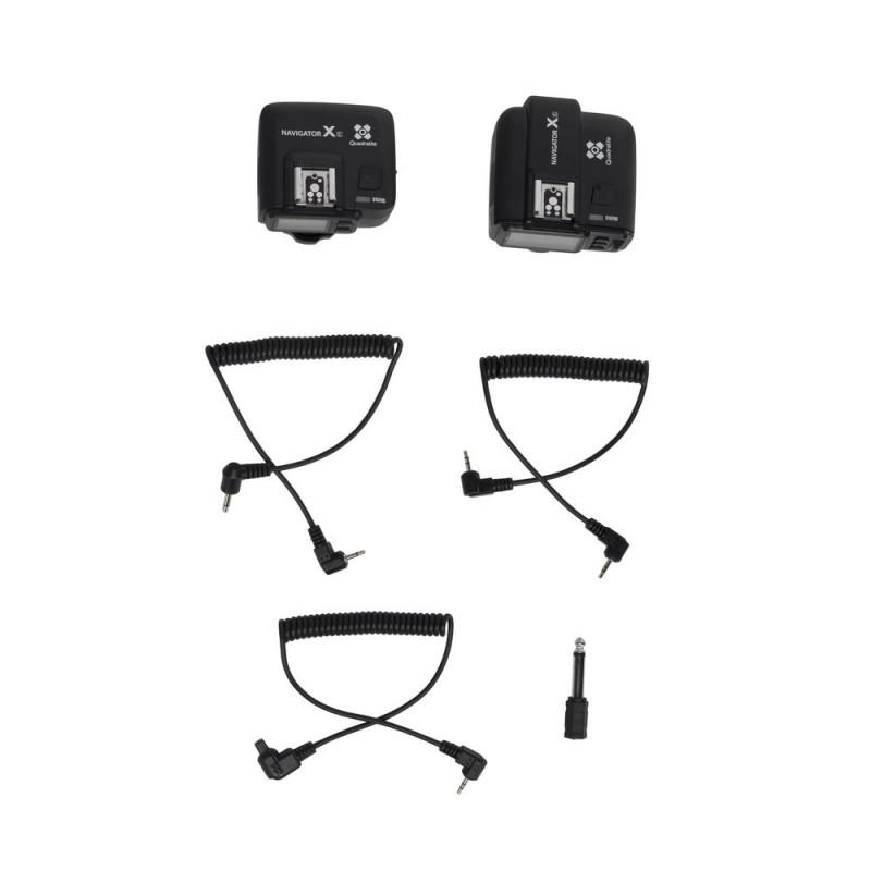 Quadralite Navigator X e-TTL kit émetteur+récepteur de Flash pour Canon