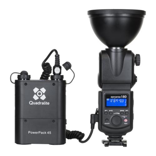 Quadralite Reporter Kit flash torche 180M / Godox AD180 manuel HSS