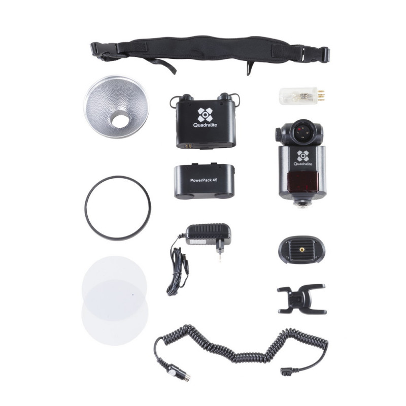Quadralite Reporter Kit flash torche 360M manuel  HSS