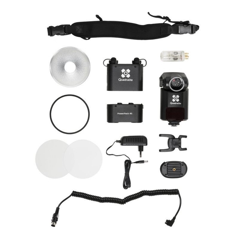 Quadralite Reporter 360 flash torche E-TTL HSS pour Canon / AD360II