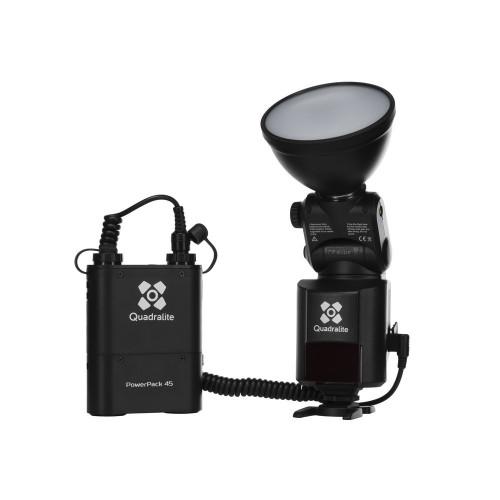 Quadralite Reporter 360 Kit flash torche E-TTL HSS pour Canon / AD360II