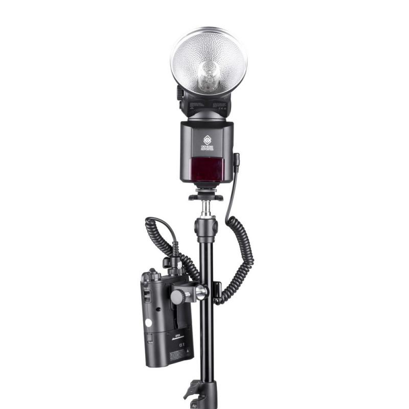 Quadralite Reporter Fixation pour pied d'éclairage pour PowerPack 45 / PB960 / PB320