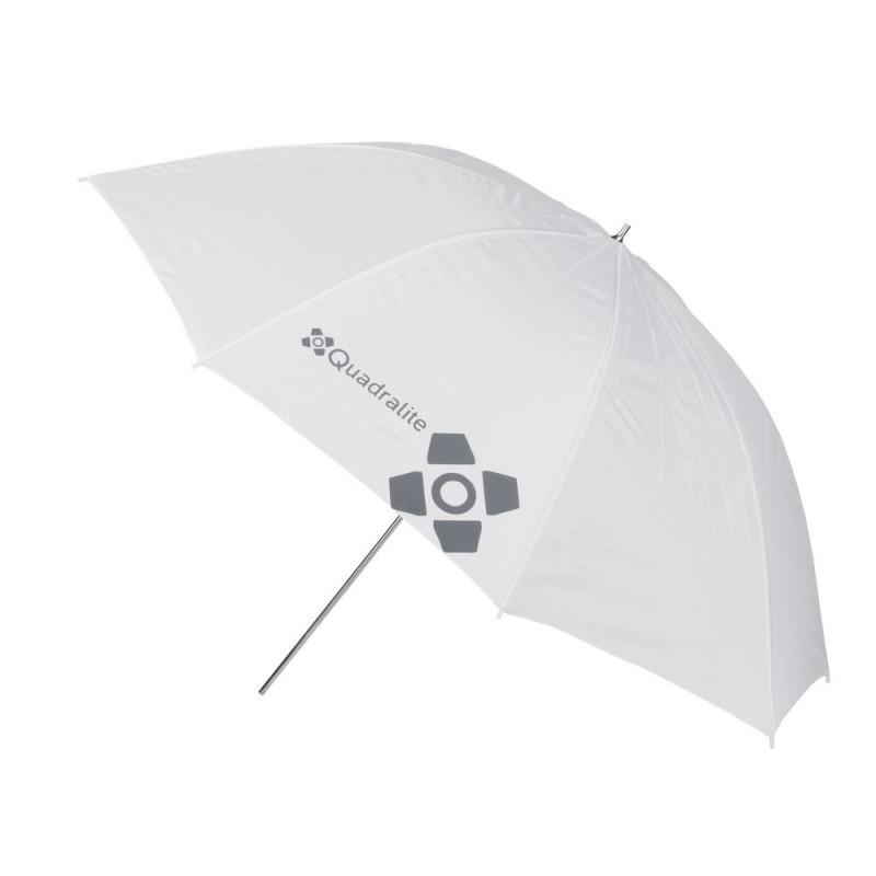 Quadralite Parapluie réflecteur photo 120 cm blanc/translucide
