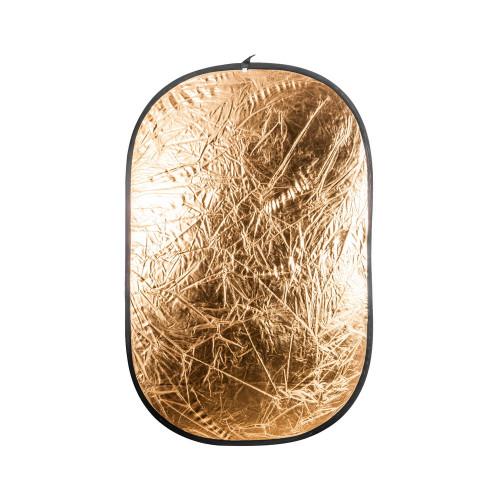 Quantuum Réflecteur pliable argenté-doré 120x180cm