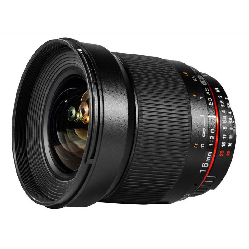 Samyang objectif 16 mm f/2.0 ED AS UMC CS AE pour Nikon