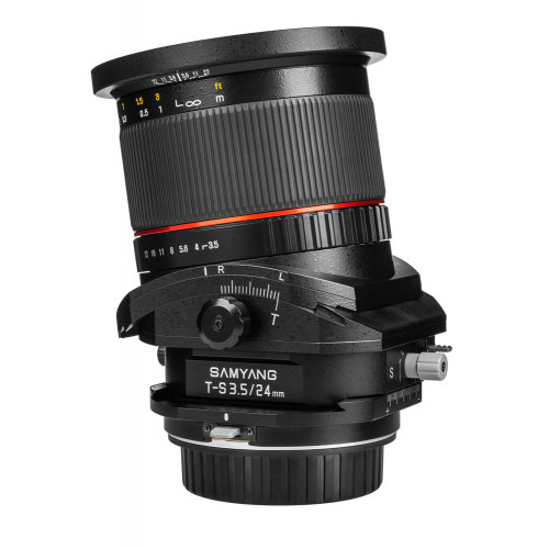Samyang objectif 24 mm f/3.5 Tilt and shift TSE ED AS UMC pour Nikon