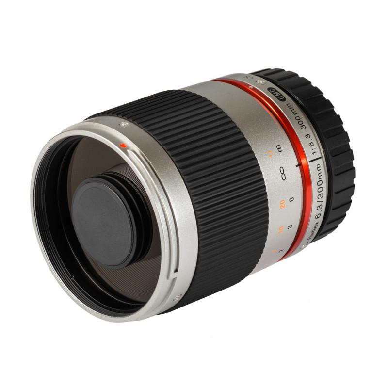 Samyang objectif 300 mm f/6.3 ED UMC CS Reflex pour Canon M (argent)