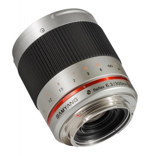 Samyang 300 mm F6.3 Reflex Canon M silver