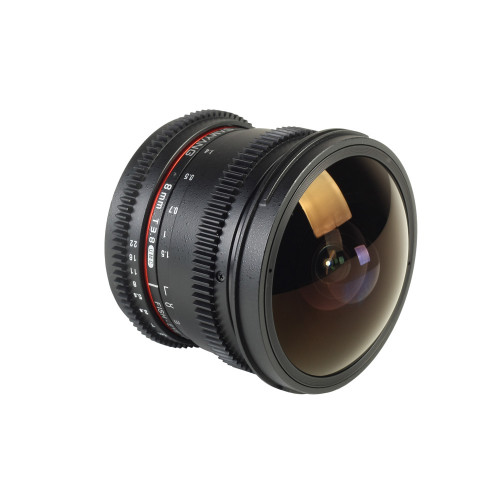 Samyang objectif fisheye 8 mm T3.8 UMC CS VDSLR CSII pour Sony A