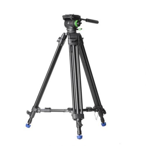 Genesis Base CVT-10 Trépied Vidéo + Rotule vidéo fluide VF-6.0 Kit
