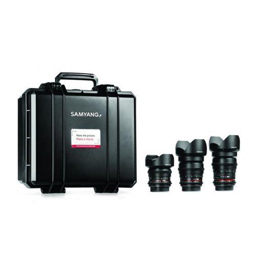 Samyang VDSLR Kit Cinéma 1 (14 mm, 24 mm, 35 mm) pour Sony A