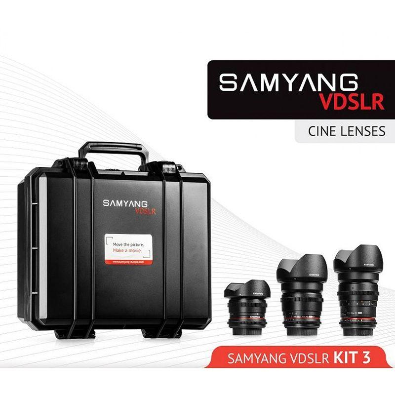 Samyang VDSLR Kit Cinéma 3 (8 mm, 16 mm, 35 mm) pour Nikon