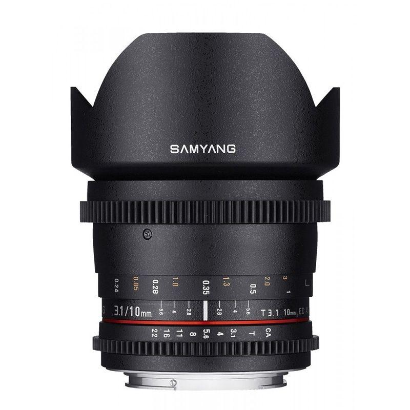 Samyang objectif 10 mm T3.1 ED AS NCS CS VDSLR pour Nikon