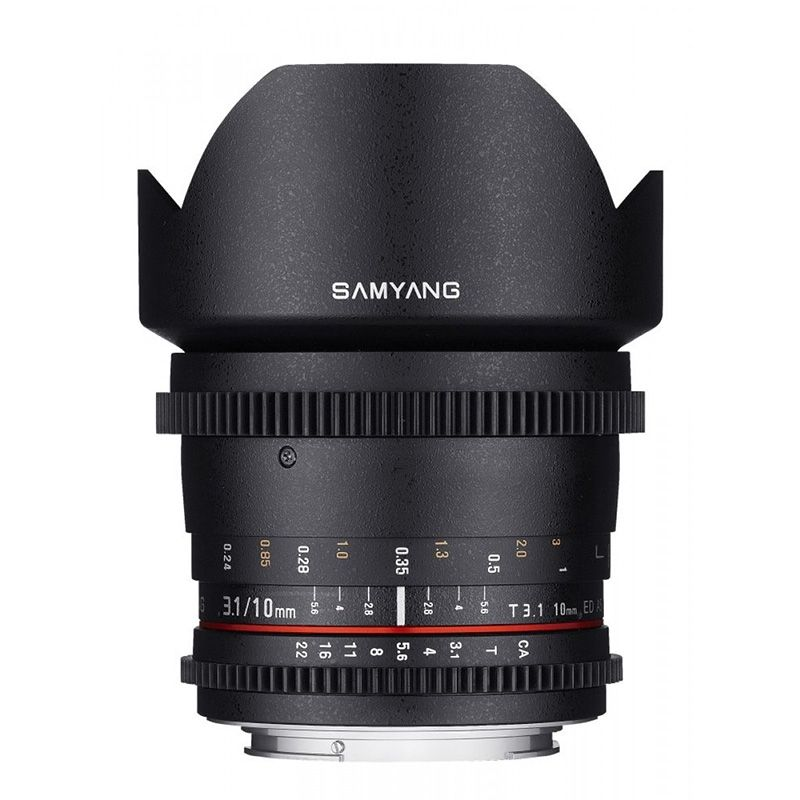 Samyang objectif 10 mm T3.1 ED AS NCS CS VDSLR pour Samsung NX