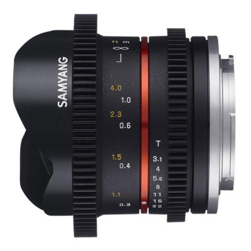 Samyang 8 mm T3.1 Sony E VDSLR Fish-eye