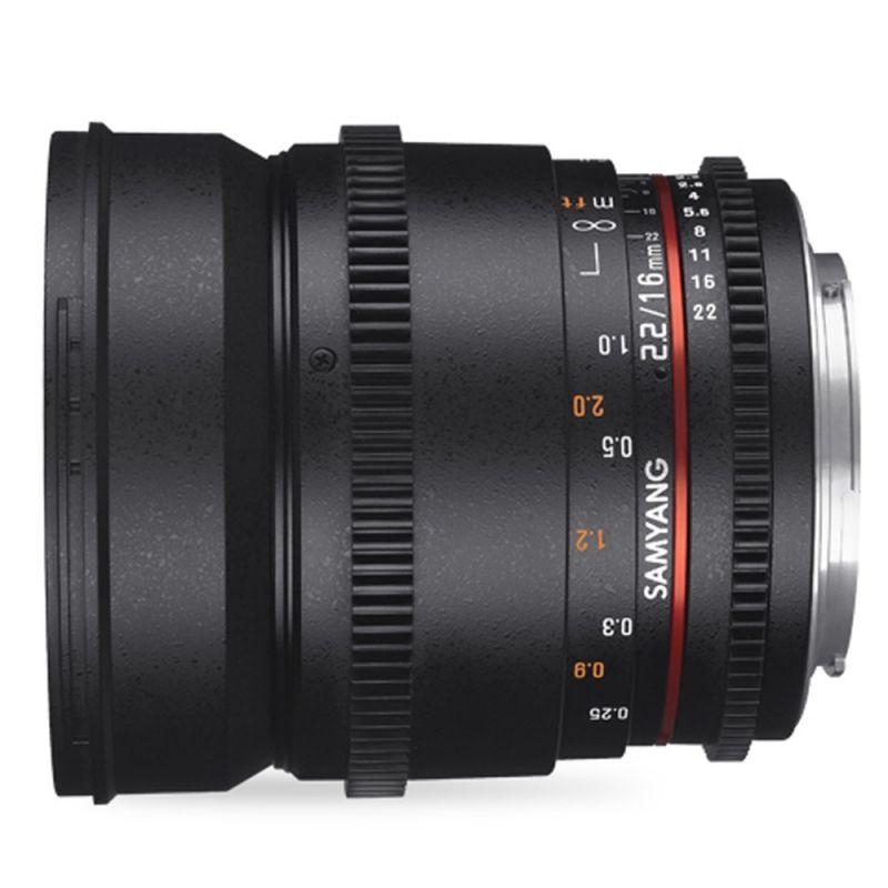 Samyang objectif 16 mm T2.2 ED AS UMC VDSLR pour Micro 4/3