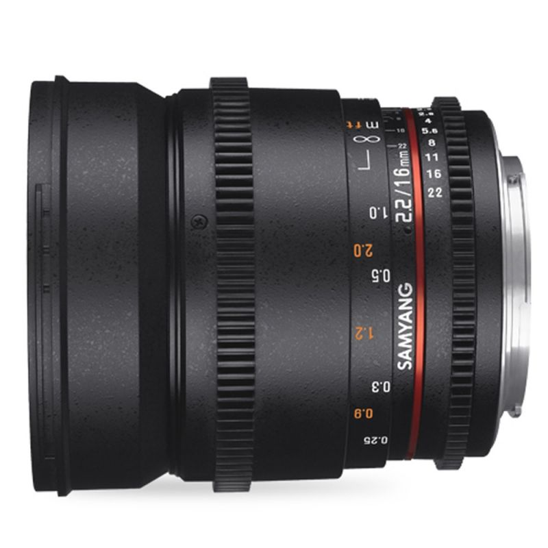 Samyang objectif 16 mm T2.2 ED AS UMC VSDLR pour Pentax