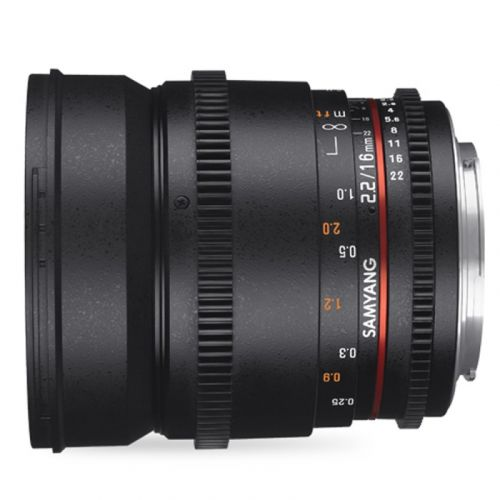 Samyang 16 mm T2.2 Sony E VDSLR