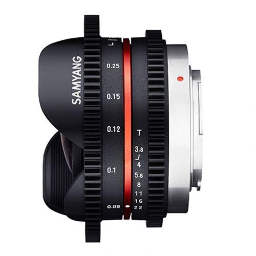 Samyang lens 7.5 mm T3.8 VDSLR for MFT