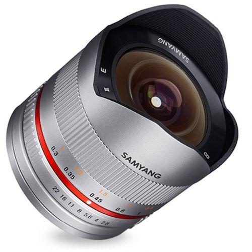 Samyang objectif fisheye 8 mm f/2.8 ED AS UMC pour Samsung NX argent