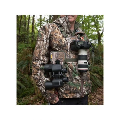 Cotton Carrier Harnais pour 1 boitier + 1 Jumelle - Coloris Camouflage