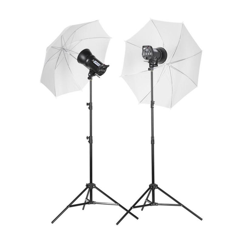 Quadralite Up! 400 kit 2x 200ws flash de studio