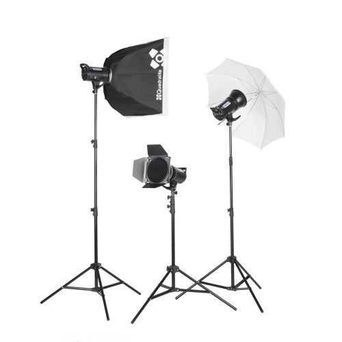 Quadralite Up! 700 kit 2x 200ws et 1x300ws flash de studio