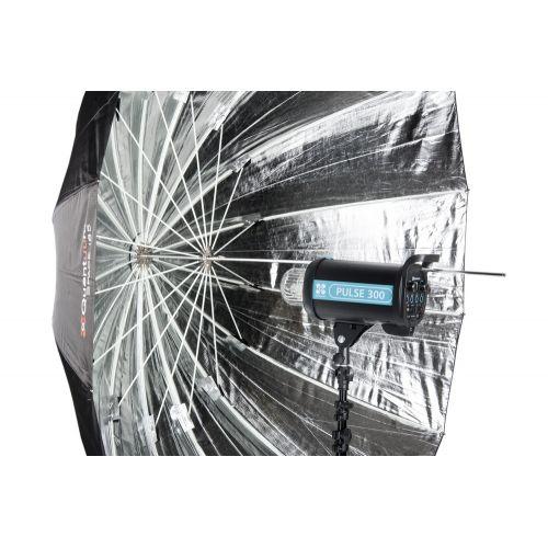 Quadralite Space 185 Parapluie photo parabolique réflecteur argent