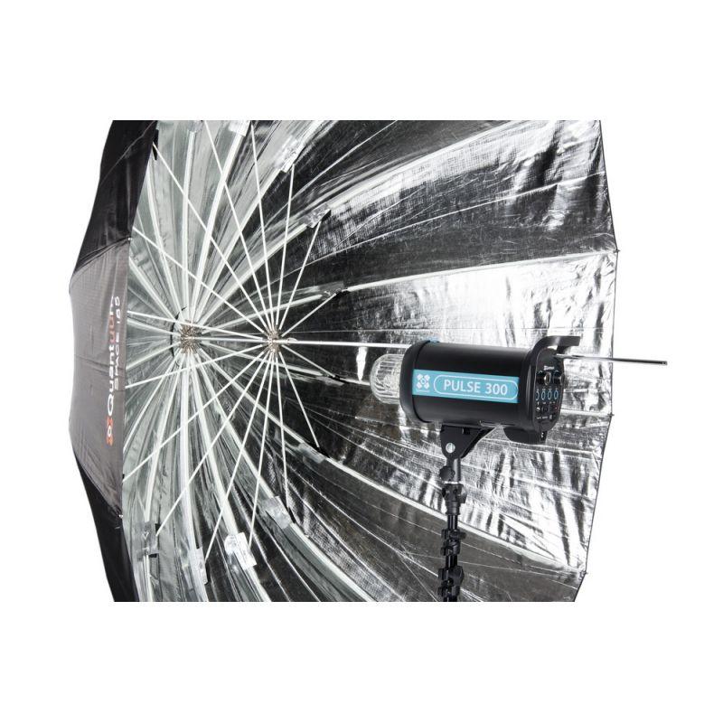 Quadralite Space 150 cm Parapluie photo parabolique réflecteur argent