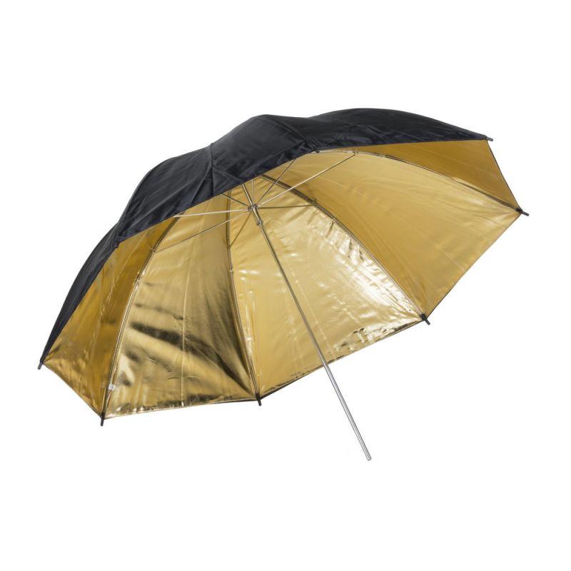 Quadralite Parapluie réflecteur photo doré 120 cm