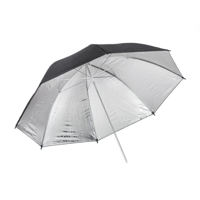 Quadralite Parapluie réflecteur photo argent 120 cm
