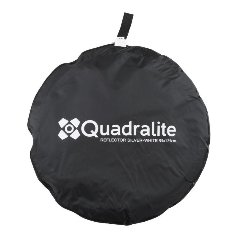 Quadralite Réflecteur pliable argenté/blanc 95x125cm GRADE B