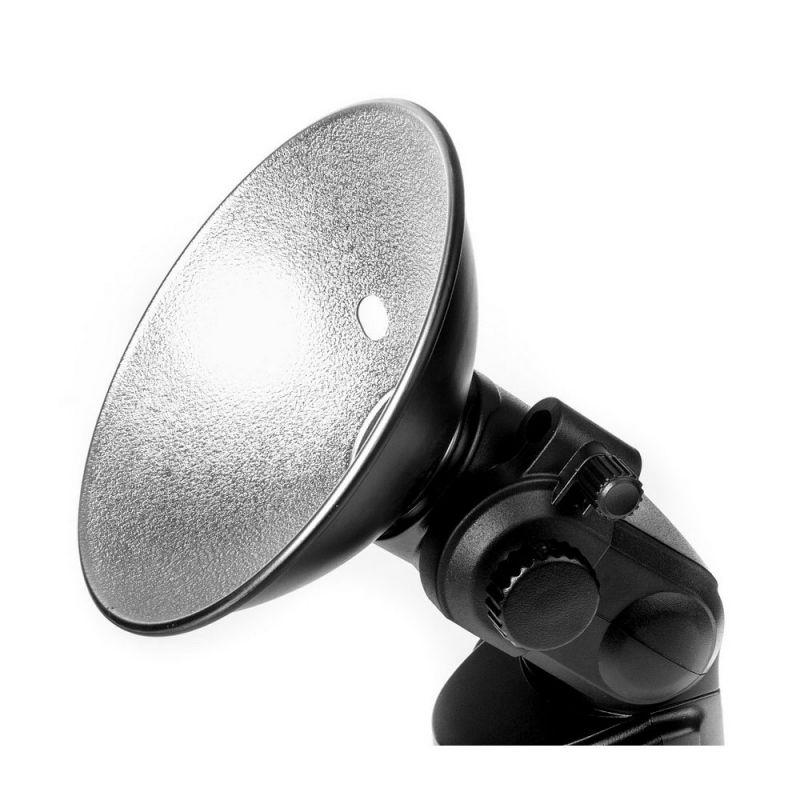 Quadralite Bol Réflecteur grand angle + support parapluie pour flash torche Reporter/AD180/AD360