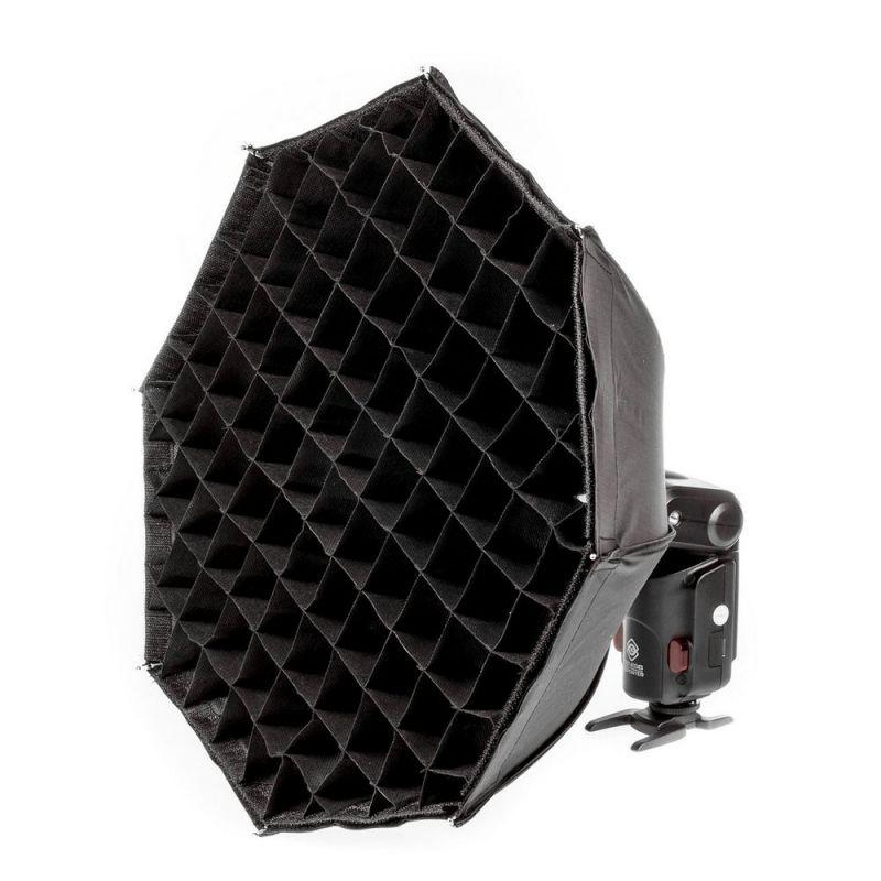Quadralite Reporter octa Boîte à lumière 48cm pour flash torche AD180/AD360