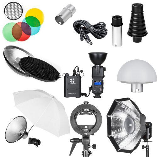 Quadralite Reporter 180M Kit PRO flash + accessoires