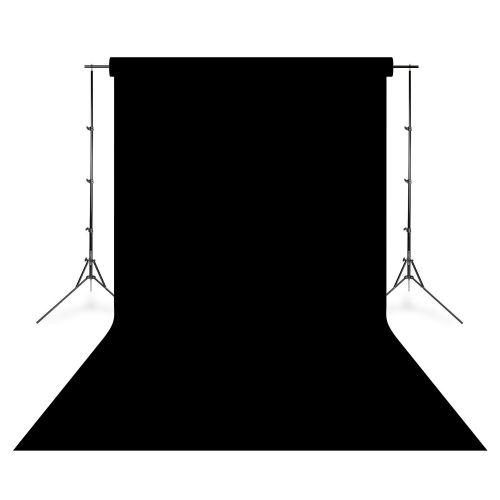 Falcon Eyes Fond de studio vinyle uni noir 2,75 x 6,09 m