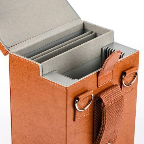 Nisi Etui rigide II simili cuir Tout en un pour filtres du système 100 mm